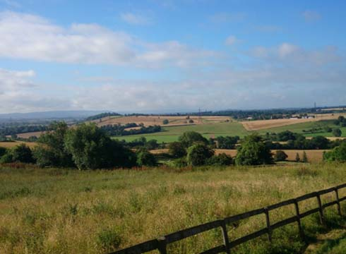 The view of the countryside near Hartpury