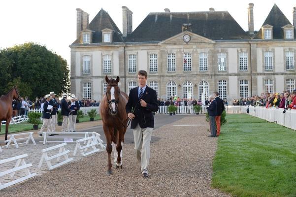 William Fox-Pitt and Chilli Morning at the final horse inspection, WEG 2014