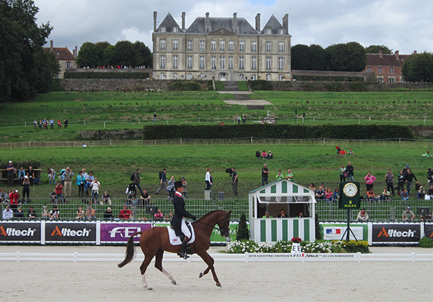 William Fox-Pitt and Chilli Morning take the lead on the first day of eventing dressage at WEG 2014