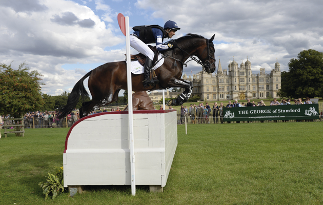Jonathan Jock Paget riding CLIFTON PROMISE during the cross country phase of The Land Rover Burghley Horse Trials, Stamford UK, September, 2013