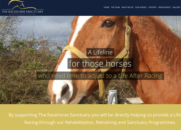 The Racehorse Sanctuary website