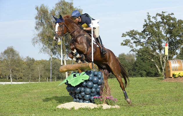 action from Pau Horse Trials