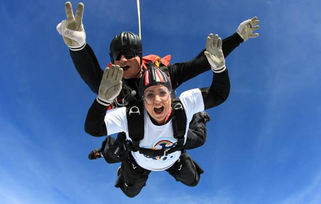 Natasha Baker skydive