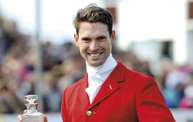 Harry Meade with trophy presentation