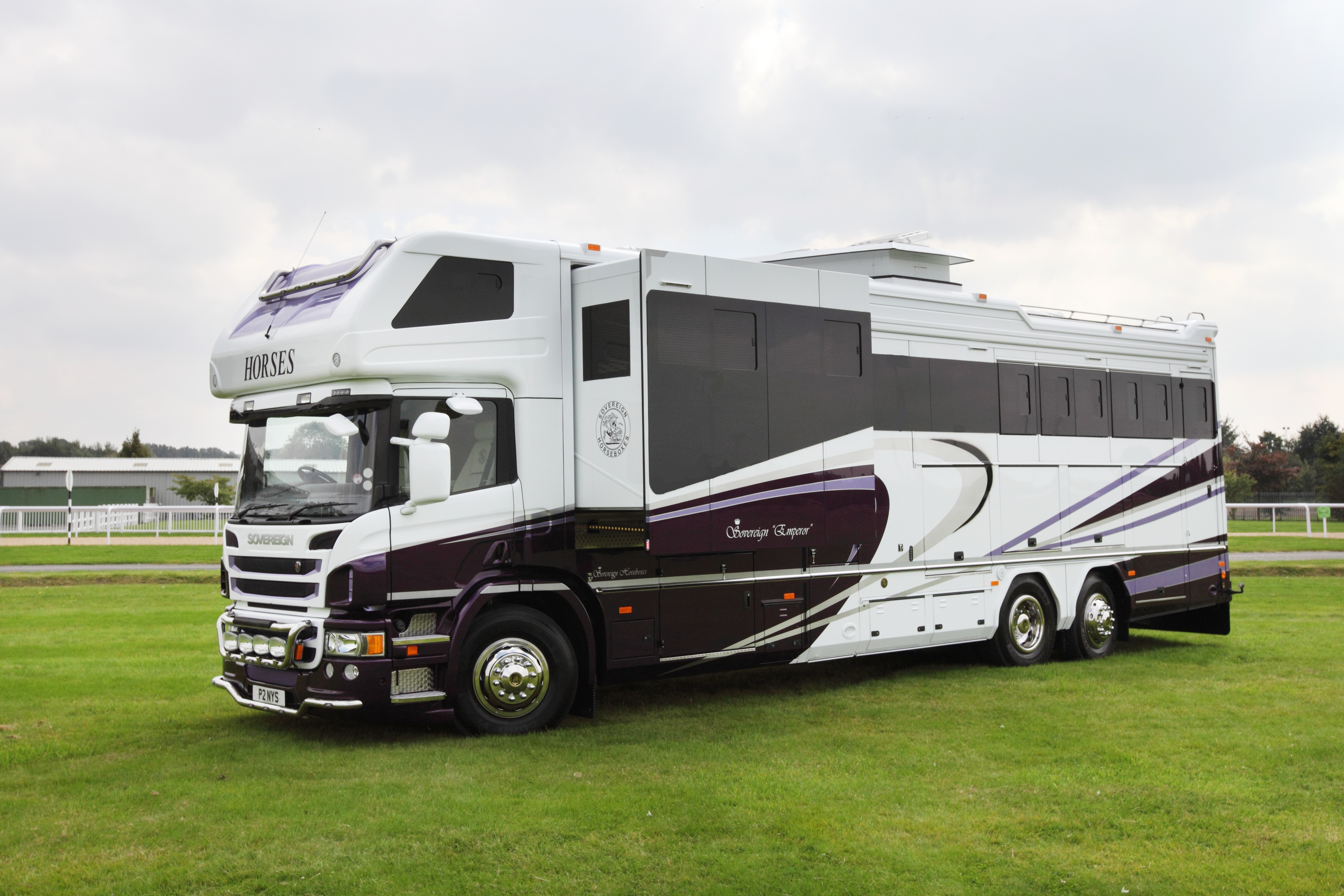 18dcf8815868de The Emperor from Sovereign Horseboxes has the option of multiple slide-outs  on both sides of the living