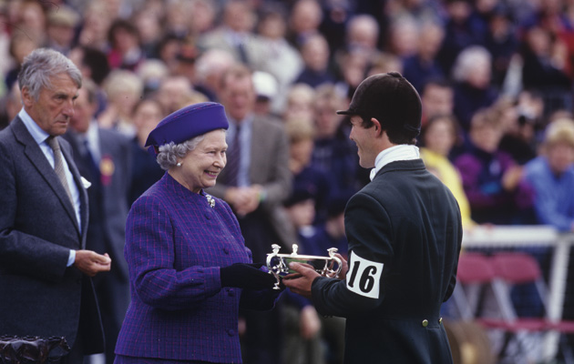 Austin O'Connor receives the Glentrool Trophy at Badminton Horse Trials in 1999
