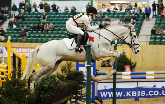 Samantha Elliott riding LOBINSTOWN KINGDOM during the BE Novice section of JAS Final at Hartpury College, Hartpury, Gloucestershire, UK; on 22 February 2015