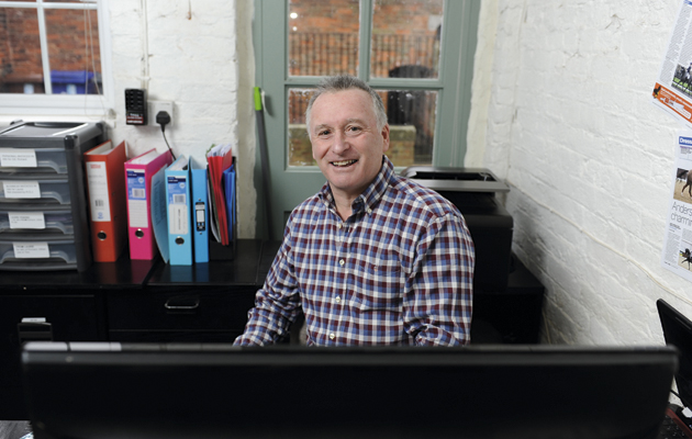 Richard Davison during his Guest Editor's week, taken at Richard Davison's yard (Combridge Farm), Combridge near Uttoxeter in Staffordshire, UK; on 5 February 2015