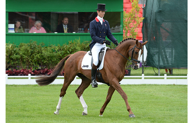 William Fox-Pitt (GBR) riding Chilli Morning during the dressage phase of The Mitsubishi Motors Badminton Horse Trials at Badminton in Gloucestershire, UK; on 7th May 2015