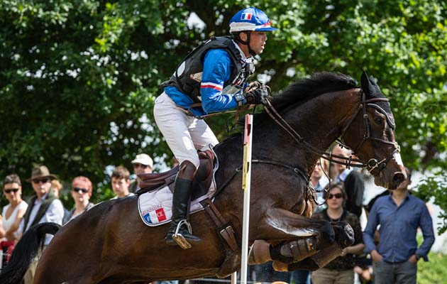 Photographie Eric KNOLL. Saumur 2015. CCI 3*. Equestrian Event. Eventing. Cross. Mathieu LEMOINE (FRA). BART L JO/JEM