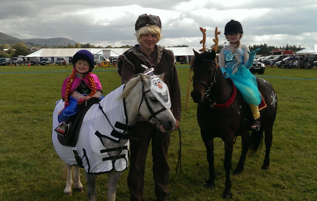 Are these the most incredible horsey fancy dress costumes for Dujardin zebre