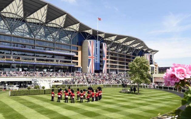 The Ascot Stands, and the Band before racing 18-6-16