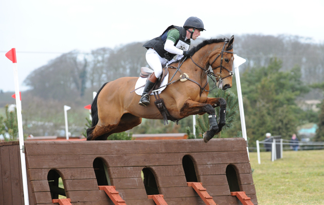 Simon Grieve riding THE LOUDEST WHISPER during the Bacon.co.uk Burnham Market International Horse Trails at Brancaster near King's Lynn in Norfolk, UK; between 3rd and 4th April 2015