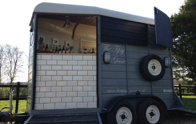 Feeling Thirsty Trailer Converted Into A Horsey Bar