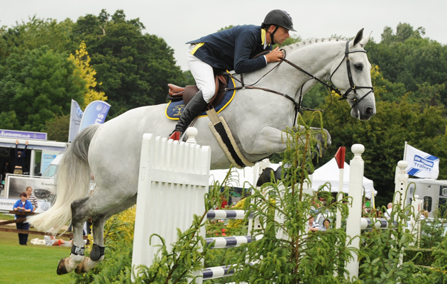 Bruce Menzies riding showjumping horse Sultan V