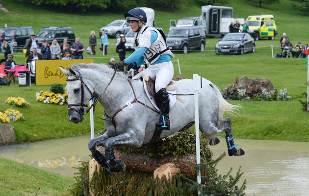 DANI EVANS riding SMART TIME during Cross Country phase of the CCI*** Under 25; during the Bramham International Horse Trial in Bramham Park, Wetherby, West Yorkshire, UK on 13th June 2015