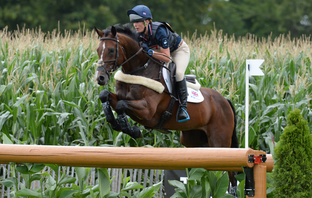 Flora Harris (GBR) riding Bayano during the Cross Country phase of the CICO *** at Aachen, Germany on 13 August 2015