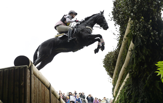Lucie McNichol riding ZEUS OF RUSHALL in the CCI during the Cross Country phase of The Fidelity Blenheim Palace International Horse Trials, near Woodstock in the UK on 14 September 2013
