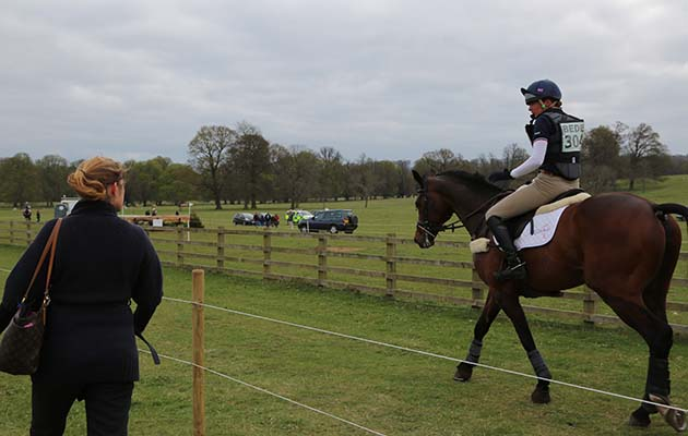 Bexs Salt with Barney (Bayano) at Belton Horse Trials