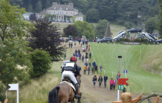 Matthew Heath riding MARSEILLE in the Intermiadate Championships of The Festival of British Eventing at Gatcombe Park