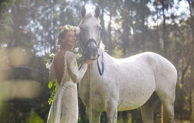 Wedding belles: 26 brides whose horses were invited to ...