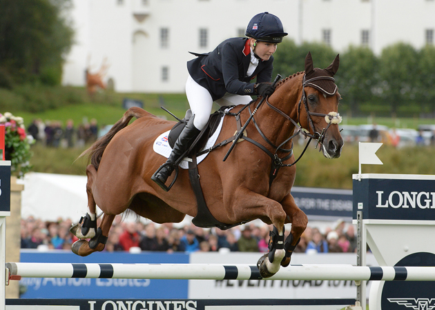 Laura COLLETT (GBR) riding Grand Manoeuvre, during the Cross Country phase of the Longines FEI European Eventing Championship 2015 at Blair Castle, in Blair Atholl near Pitlochry in Perthshire, Scotland, UK , on 9th September 2015