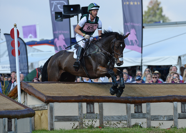 Clark Montgomery riding LOUGHAN GLEN, during the cross country phase of The Blenheim Palace International Horse Trials near Woodstock in Oxfordshire, UK, on 19th September 2015