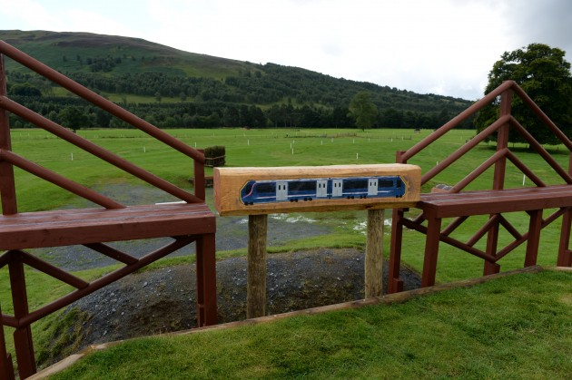 Andrew Hoy and Ian Stark walking the cross country (Fence 18, Forth Rail Bridge) at The Longines FEI European Eventing Championship at Blair Castle, Atholl, Pitlochry, Perthshire, Scotland, United Kingdom, on 26 August 2015