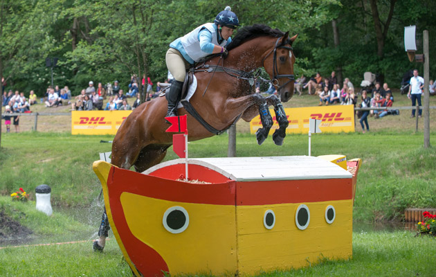 Alice Dunsdon (GBR)&Fernhill Present - Cross Country - Luhmuhlen CCI4* - Salzhausen, Germany - 14 June 2013
