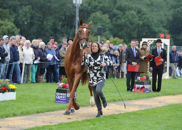 Pippa Funnell riding REDESIGNED; during the Final Vet Check of The Land Rover Burghley Horse Trials near Stamford in Lincolnshire, UK, on 5th September 2015