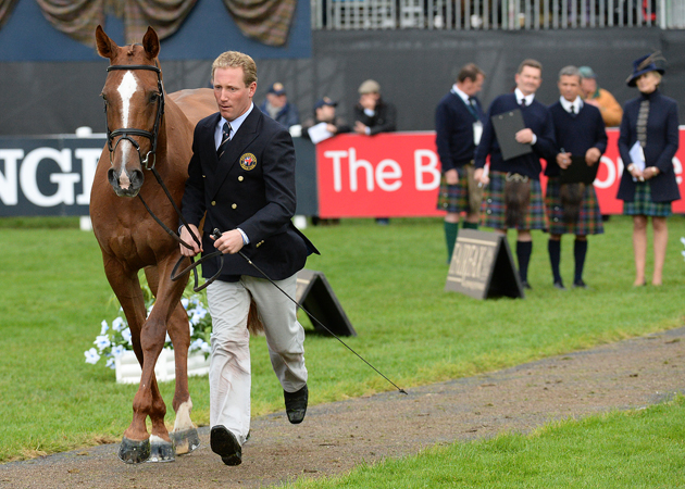 Oliver TOWNEND (GBR) riding Fenyas Elegance, during the Final Vet Check of the Longines FEI European Eventing Championship 2015 at Blair Castle, in Blair Atholl near Pitlochry in Perthshire, Scotland, UK , on 9th September 2015