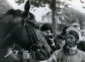Lester Piggott and Arc winner Alleged in 1977
