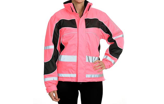 Pink Equisafety Aspey Winter Jacket Hi Viz Reflective Horse Riding Jacket