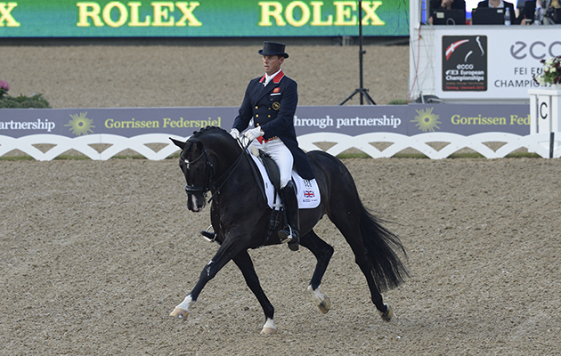 Carl HESTER riding Uthopia GBR at the FEI European Championship in Herning Denmark in August 2013