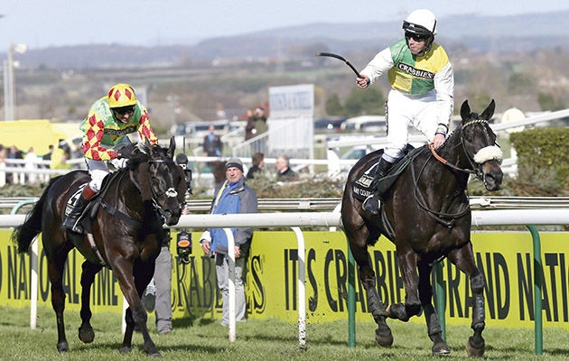Many Clouds winning the 2015 Grand National at Aintree