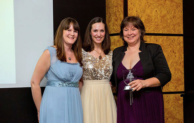 H&H's Sarah Jenkins and Alice Collins with Suzy Mainprice