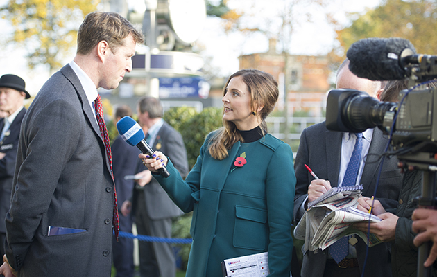Behind the scenes at Channel 4 racing 31 10 2015 at ascot