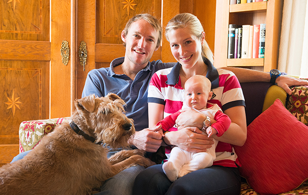 Laura Tomlinson feature shoot family and new born baby - Eastington House, Ampney St Peter, Gloucestershire, United Kingdom - 28 October 2014