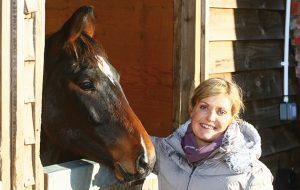 Anna Ross Davies and her homebred Gary