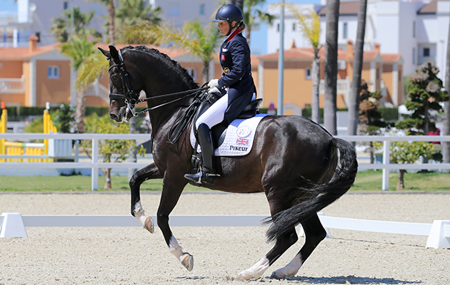 Oliva, Spain - 2016 April 24: during Doma competition at CDI3 Oliva Nova at Oliva Nova Equestrian Center. (photo: www.1clicphoto.com/Mariann Marko)