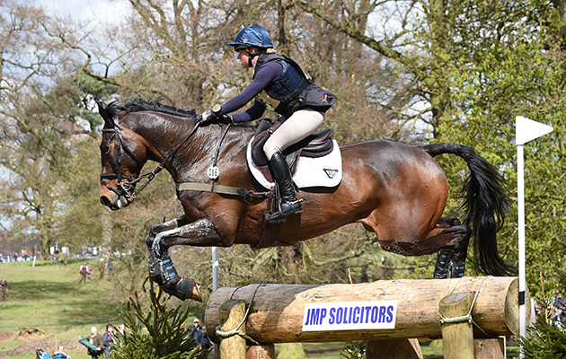 Rosalind Canter riding ALLSTAR B in the CIC*** Section N during the Belton Horse Trials, in the grounds of Belton House near Grantham in Lincolnshire, UK on 17th April 2016