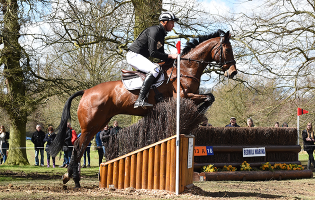 Jesse Campbell (NZL) riding KAAPACHINO in the CIC*** Section N during the Belton Horse Trials, in the grounds of Belton House near Grantham in Lincolnshire, UK on 17th April 2016