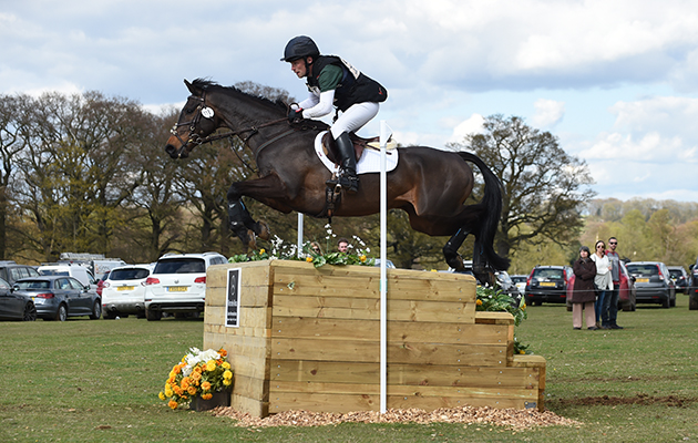 Simon Grieve riding DRUMBILLA METRO in the CIC*** Section N during the Belton Horse Trials, in the grounds of Belton House near Grantham in Lincolnshire, UK on 17th April 2016