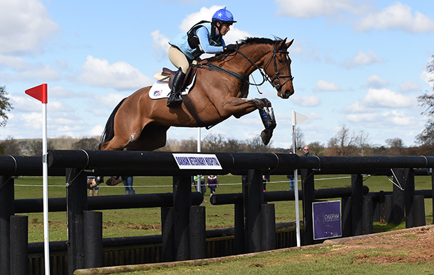 Alice Dunsdon riding FERNHILL PRESENT in the Adv Section M during the Belton Horse Trials, in the grounds of Belton House near Grantham in Lincolnshire, UK on 17th April 2016