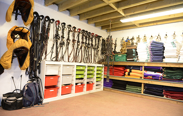 The Immaculate Tack Room Where Everything Is Colour
