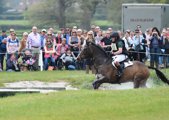 Simon Grieve riding Cornacrew GBR during the Cross Country phase of The Mitsubishi Motors Badminton Horse Trials at Badminton in Gloucestershire, UK on 7th May 2016