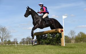 badminton horse trials grassroots championships Carrie Childs riding DONNER SARA B in the BE90 section of The Mitsubishi Motors Cup during The Mitsubishi Motors Badminton Horse Trials at Badminton in Gloucestershire, UK on 4th May 2016