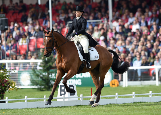 Alice Dunsdon riding Fernhill Present GBR during the Dressage phase of The Mitsubishi Motors Badminton Horse Trials at Badminton in Gloucestershire, UK on 4th May 2016
