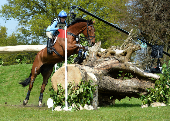 Alice Dunsdon riding Fernhill Present GBR during the Cross Country phase of The Mitsubishi Motors Badminton Horse Trials at Badminton in Gloucestershire, UK on 7th May 2016