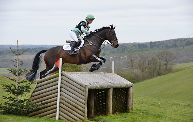 Coral Keen riding WELLSHEAD FARE OPPOSITION in the Advanced Section N during Withington Manor Horse Trials on the Withington Estate near Cheltenham in Gloucestershire, UK on 1st May 2016
